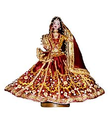 Chandramukhi from Movie Devdas - Customised Barbie Doll