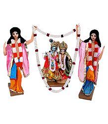 Nitai Gaur with Radha Krishna