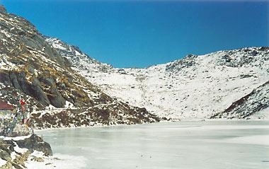 Tsomgo Lake During Winters, Gangtok - East Sikkim, India