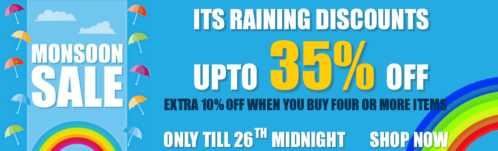 Monsoon 2017 Sale - Upto 35% Off