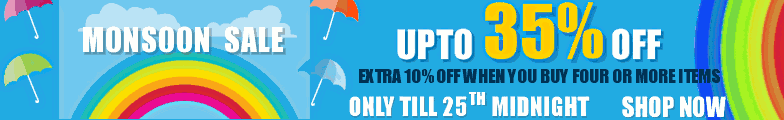 Monsoon Sale - Upto 35% off