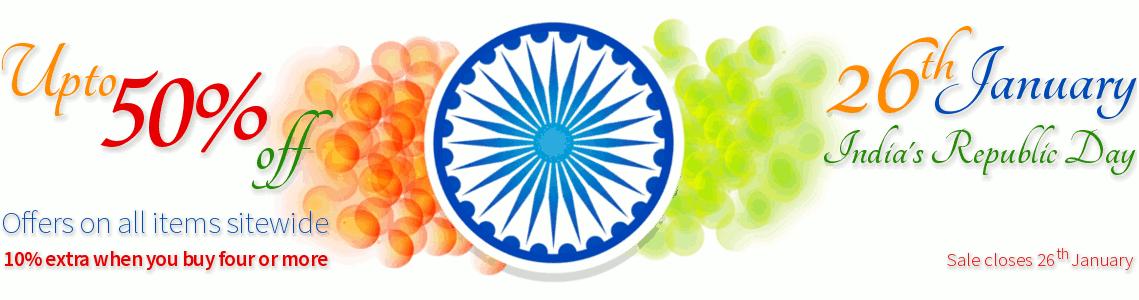 India Republic Day Sale - Upto 50% off