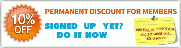 Sign up for 10% or more discounts