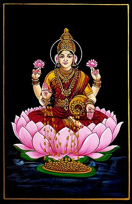 Dhana Lakshmi - Nirmal Painting on Wood