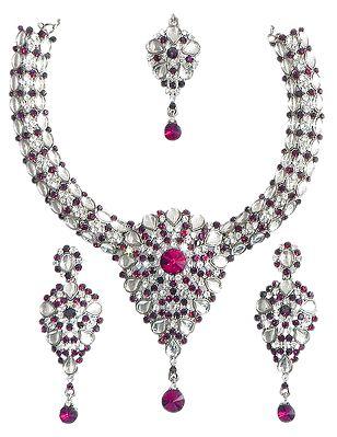 Kundan Necklace Set with Mang Tika