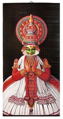 Kathakali Dancer - Painting on Wall Hanging