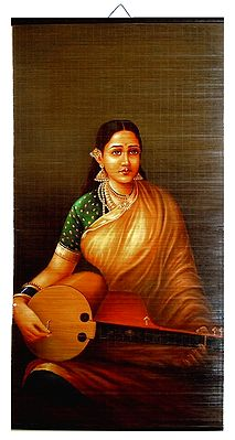 Veena Vadini - Painting on Wall Hanging