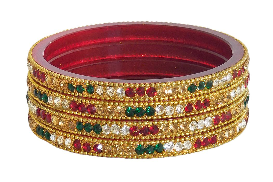 stones with adjustable green bangles and red pearl pearls traditional pure bangle stone