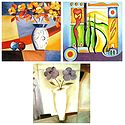 Set of 3 Abstract and Flower Posters