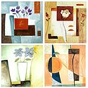 Set of 4 Flowers and Abstract Posters