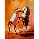 Pair of Dancing Horses