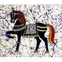 Royal Horse - Batik Painting