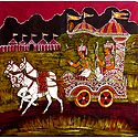 Krishna Preaching the Gita to Arjuna During the Battle of Kurukshetra