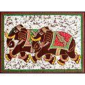 Pair of Royal Elephants - Printed Batik