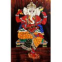 Lord Ganesha Sitting on Throne