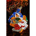 Secret Rendezvous of Radha Krishna - Batik Painting on Cloth