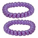 Pair of Acrylic Mauve Stretch Bracelet