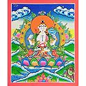 Four-Armed Avalokiteshvara - Thangka Painting