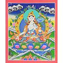 White Tara - Thangka Painting