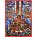 Guruparampara (Refuge Tree) - Wall Hanging - Thangka Screen Print
