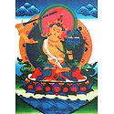 Buddhist Deity Manjushri - Thangka Screen Print