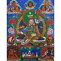 Guru Padmasambhava - Thangka Screen Print