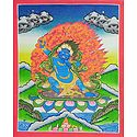 Blue Mahakal - Thangka Painting
