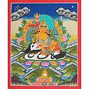 Jambala - Buddhist Kubera (Thangka Painting)