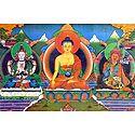 Chenrezig, Medicine Buddha and Padmasambhava