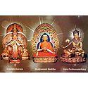Avalokiteshvara,Shakyamuni Buddha,Padmasambhava
