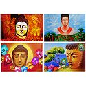 Lord Buddha - Set of 4 Posters