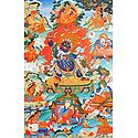 Guru Seng-ge sGra-sgrogs, One of the Manifestation of Padmasambhava, Surrounded by Siddhas of the Vajrayana