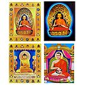 Buddha, and Milarepa - Set of 4 Posters - Unframed