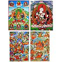 Vajrasattva,Manjushree and Manifestations of Padmasambhava - Set of 4 Posters