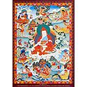 Guru Padmasambhava - One of the Manifestation of Padmasambhava, Surrounded by Siddhas of the Vajrayana
