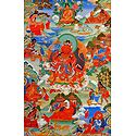 Guru Nyi-ma 'Od-zer, One of the Manifestation of Padmasambhava, Surrounded by Siddhas of the Vajrayana