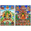 Buddha and Manjusri - Set of 2 Posters