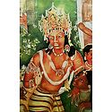 Vajrapani - Reprint of Ajanta Cave Painting, India