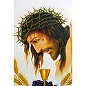 Jesus Christ Wearing Crown of Thorns