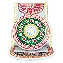 Decorative Marble Table Clock with Mobile Holder