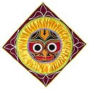 Appliqued Jagannathdev Face on Maroon Velvet Cloth - Wall Hanging