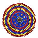 Mirror Work on Blue Appliqued Cotton Cloth - Wall Hanging