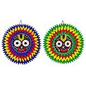 Set of 2 Jagannathdev on Appliqued Cotton Cloth - Wall Hanging