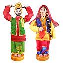 Pair of Bhangra Dancers