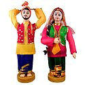 Pair of Bhangra Dancers - Set of 2