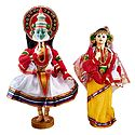 Pair of Kathakali Dancers