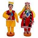 Pair of Kashmiri Costume Dolls
