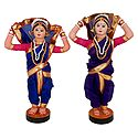 Pair of Tamasha Folk Dancers from Maharashtra