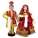 Marwari Bridal Doll from Rajasthan - Cloth Doll