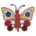 Multicolor Banana Fibre Butterfly - Wall Hanging